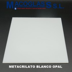 Tapas a medida. Metacrilato Blanco Opal 5 mm
