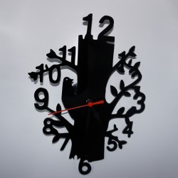 Reloj de metacrilato forma de árbol