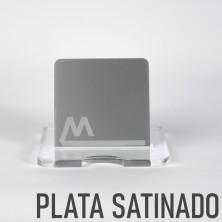 Metacrilato plata satinado